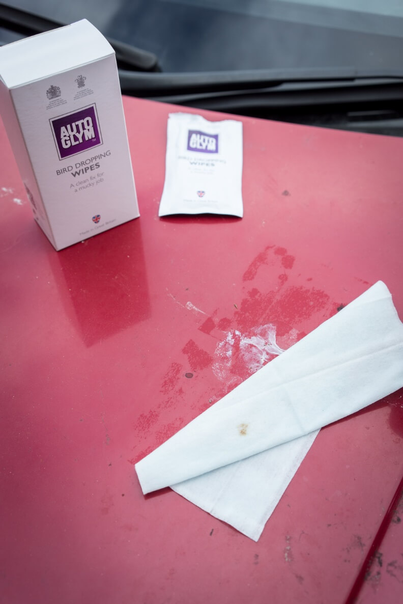 Remove bird droppings from car Autoglym