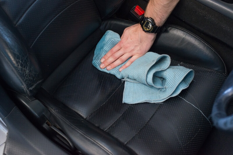 how to care for leather interior with Autoglym