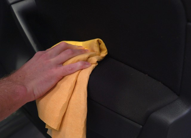 Cleaning elbow marks from interior trim 2